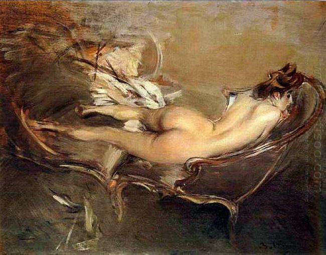 A Reclining Nude On A Day Bed