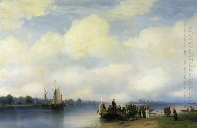 Arrival Of Peter I On The Neva 1853
