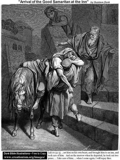 Arrival Of The Good Samaritan At The Inn