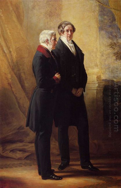 Arthur Wellesley 1St Duke Of Wellington With Sir Robert Peel 184