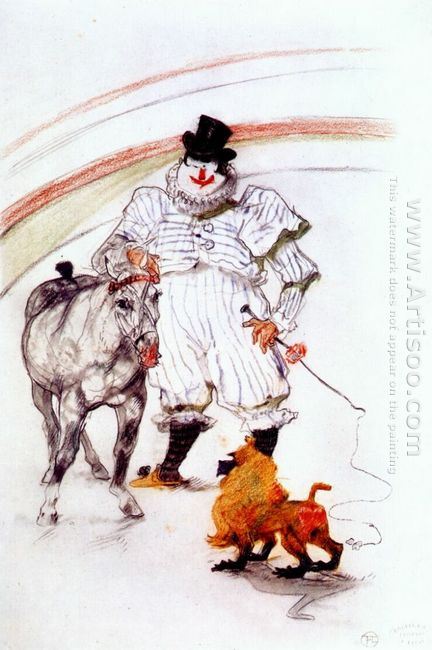 At The Circus Horse And Monkey Dressage 1899