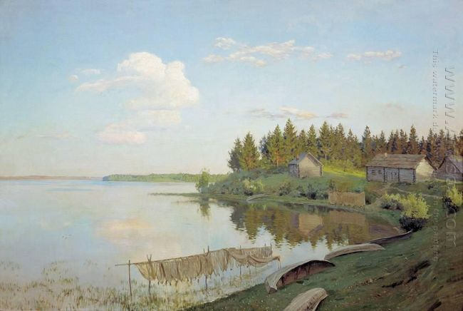 At The Lake Tver Region 1893