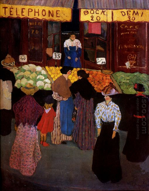 At The Market 1895