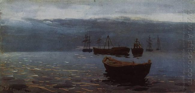 At Volga Evening Falls 1888