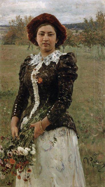 Autumn Bouquet Portrait Of Vera Repina 1892