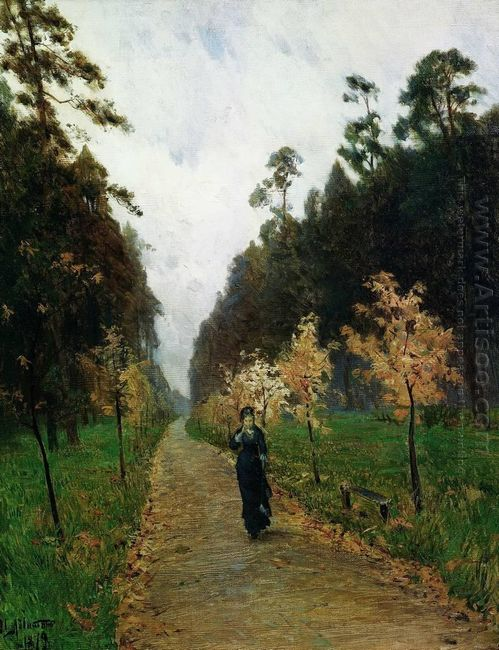 Autumn Day Sokolniki 1879 by Isaac Levitan