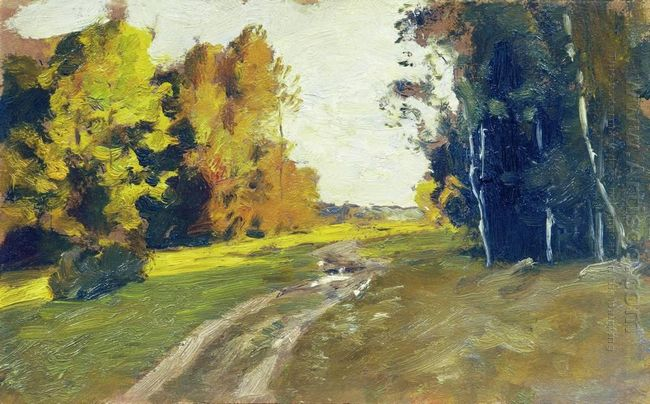 Autumn Evening Trail In The Forest 1894