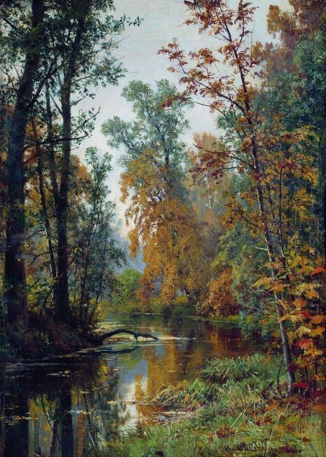 Autumn Landscape Park In Pavlovsk 1888