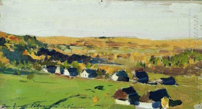 Autumn Landscape Village