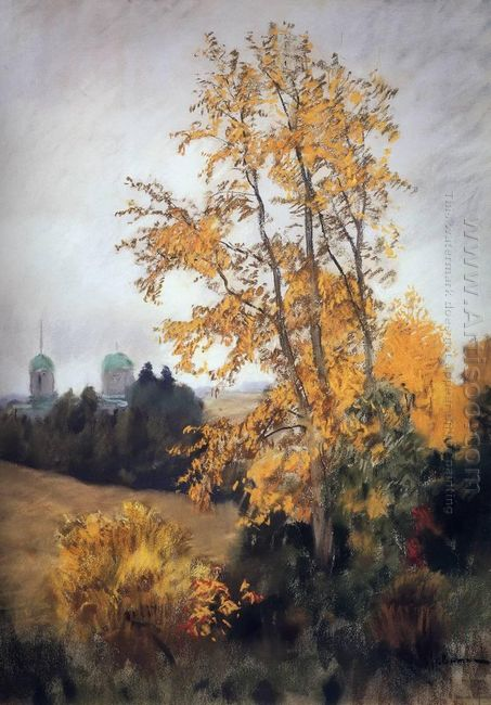 Autumn Landscape With Church