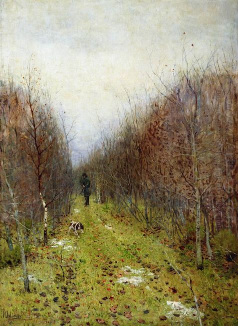 Autumn Landscape With Hunter 1880