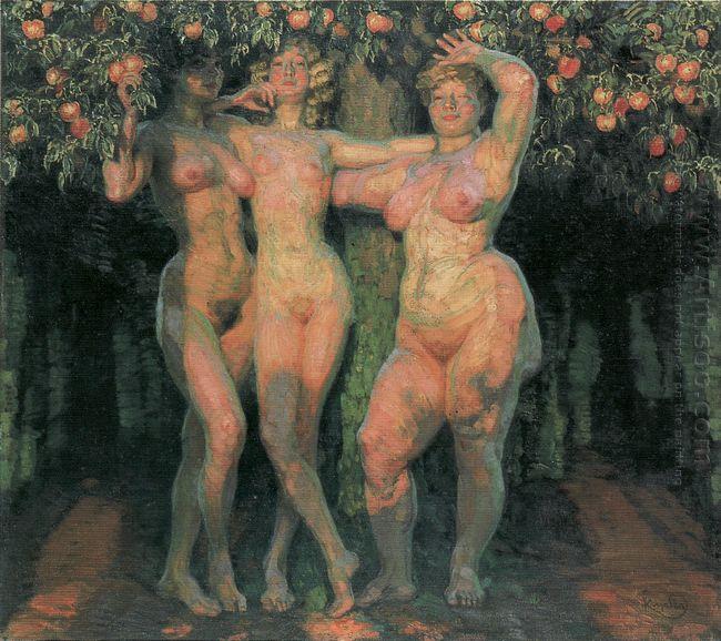 Autumn Sun Three Goddesses 1906
