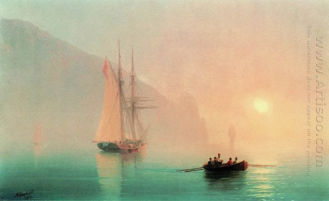 Ayu Dag On A Foggy Day 1853