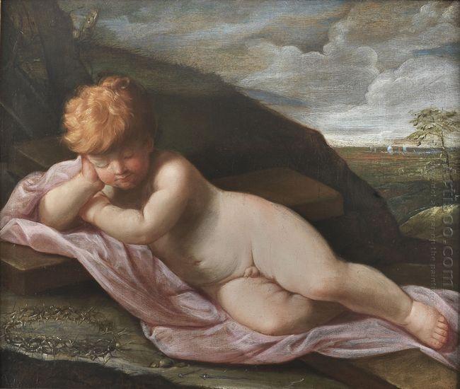 Baby Jesus Asleep On The Cross 1625