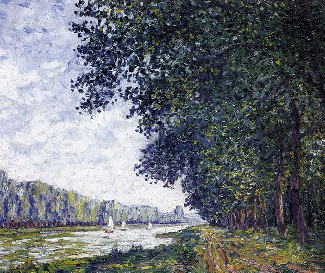 Banks Of The Orne At Benouville