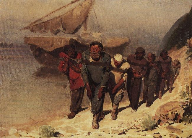 Barge Haulers On The Volga 1 1870