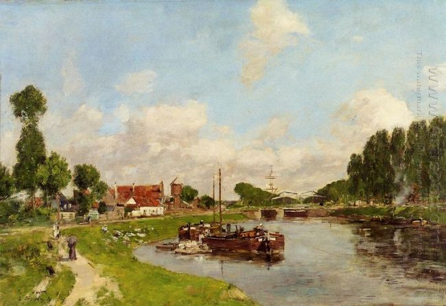 Barges On The Canal At Saint Valery Sur Somme 1891