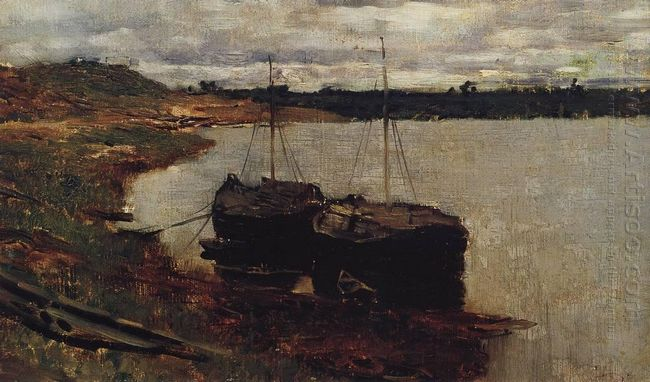 Barges The Volga 1889