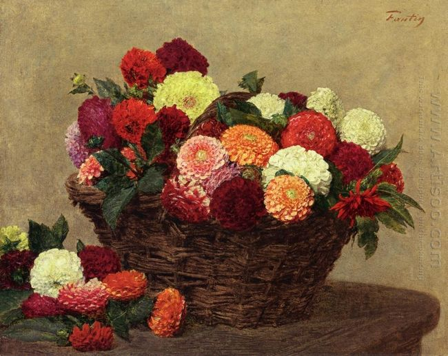Basket Of Dahlias