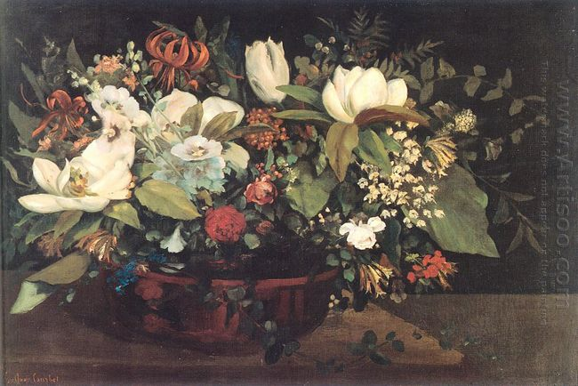 Basket Of Flowers 1863