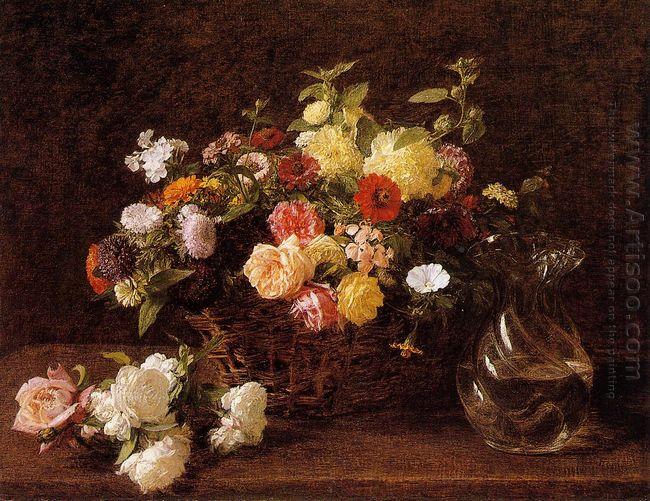 Basket Of Flowers 1892