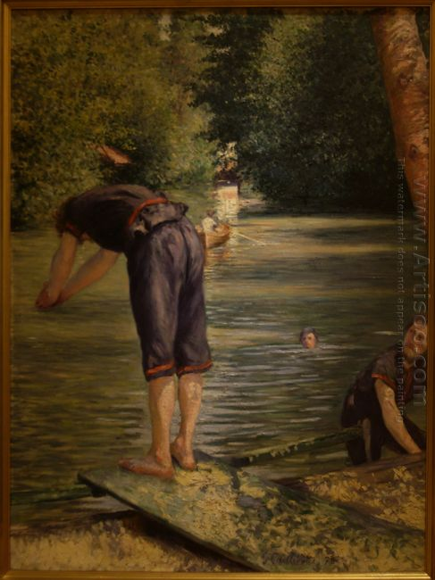 Bathers On The Banks Of The Yerres 1878