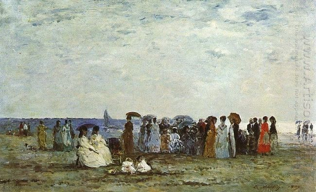 Bathers On The Beach At Trouville 1869