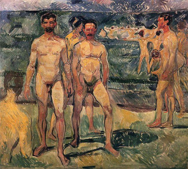 Bathing Men 1907