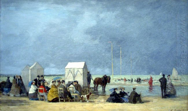 Bathing Time At Deauville