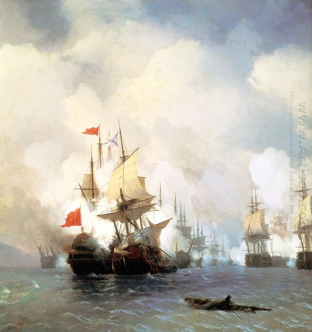 Battle Of Chios On 24 June 1770 1848
