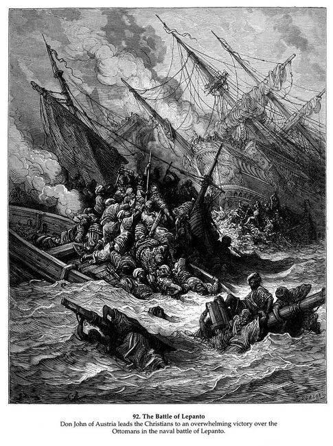 Battle Of Lepanto In 1571 1877