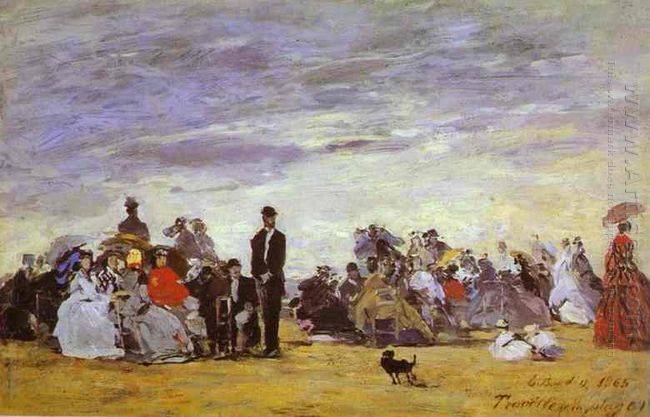 Beach At Trouville 1864