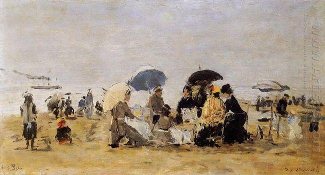 Beach Scene 1880