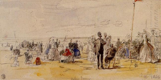 Beach Scene At Trouville 1866
