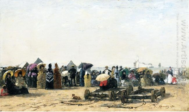 Beach Scene At Trouville 2