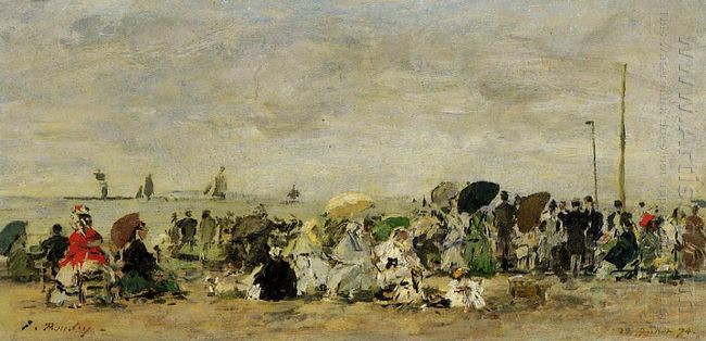 Beach Scene At Trouville 3