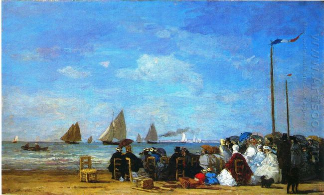 Beach Scene Trouville 1863 1