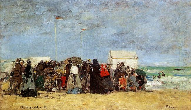 Beach Scene Trouville 1864