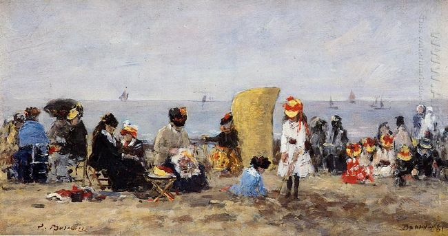 Beach Scene Trouville 1881