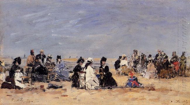 Beach Scene Trouville