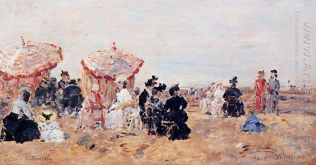 Beach Scene Villers 1894