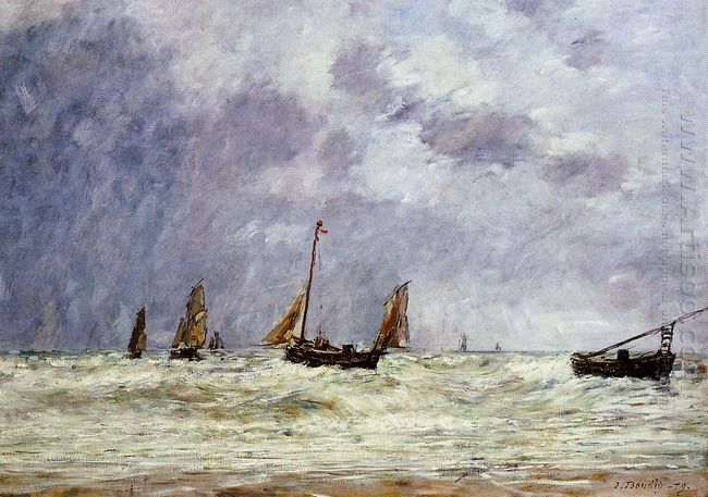 Berck The Departure Of The Boats