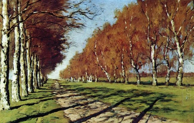 Big Road Sunny Autumn Day 1897