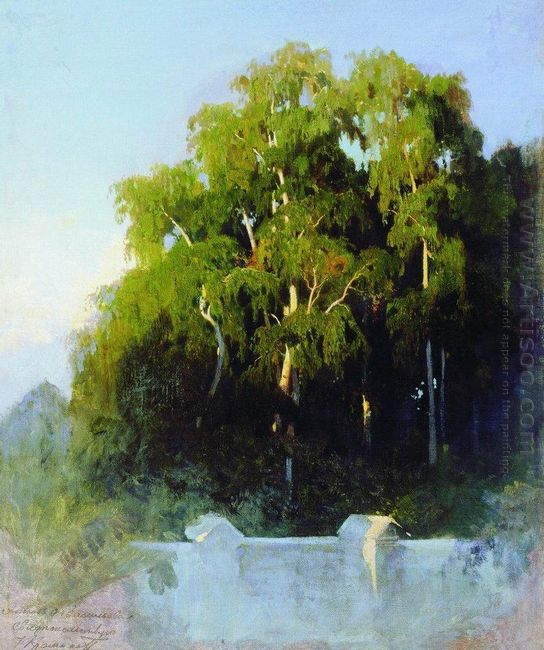 Birch Grove In The Evening 1869