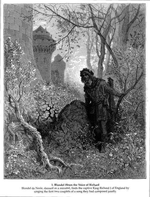 Blondel Hears The Voice Of Richard The Lionheart 1877