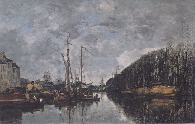 Channel At Allèe Verte In Brussels 1871
