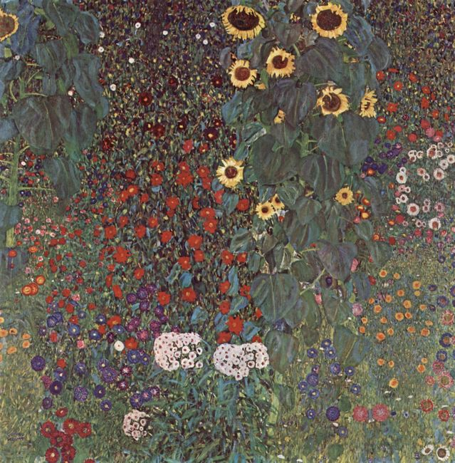 Country Garden With Sunflowers 1906