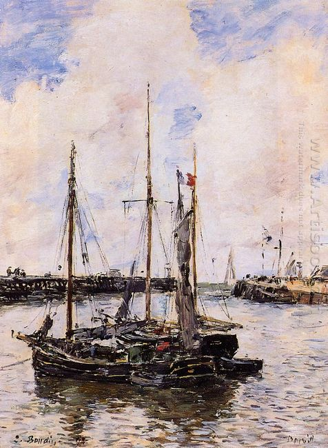 Entrance To The Port Of Trouville 1894