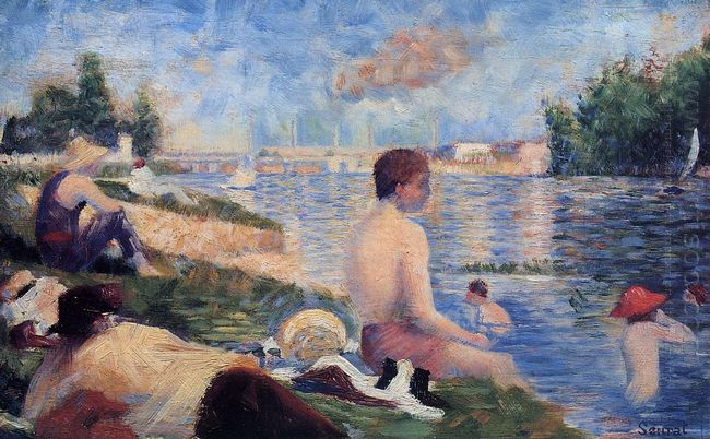 Final Study For Bathing At Asnieres 1884