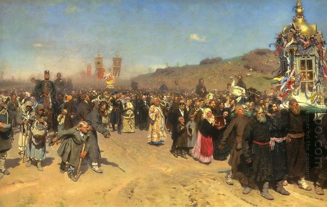 Krestny Khod Religious Procession In Kursk Gubernia 1883 by Ilya Repin